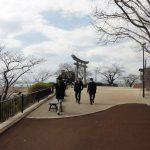 日和山展望台で街を見ます