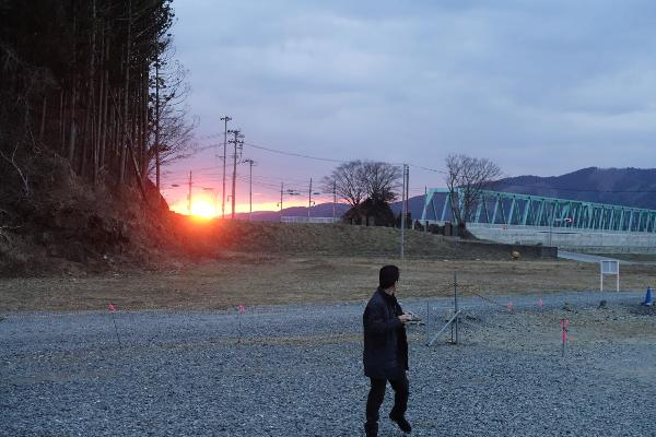 大川小学校近辺の地形を確認